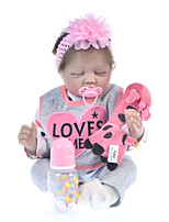 cheap -KEIUMI 22 inch Reborn Doll Baby & Toddler Toy Reborn Toddler Doll Baby Girl Gift Cute Lovely Parent-Child Interaction Tipped and Sealed Nails Half Silicone and Cloth Body 22D65-C129-H06-T05 with