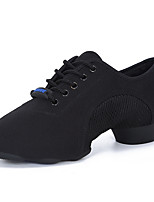 cheap -Women's Dance Shoes Latin Shoes Flat Flat Heel Black