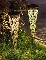 cheap -2pc Solar Garden Light Outdoor Lights Lawn Light LED Waterproof Garden Lighting