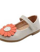 cheap -Girls' Flats Comfort PU Little Kids(4-7ys) Black / Brown / Beige Summer