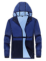 cheap -Men's Hiking Jacket Hiking Windbreaker Outdoor Portable Windproof Sunscreen Breathable Jacket Top Camping / Hiking Fishing Climbing White / Blue / Grey / Dark Navy / Quick Dry / Quick Dry / Summer
