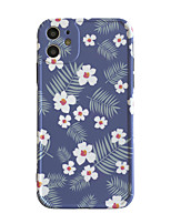 cheap -Case For Apple scene graph iPhone 11 11 Pro 11 Pro Max Photo frame private model series blue background small flower pattern TPU material IMD process fine matte mobile phone case