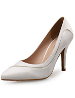 cheap -Women's Heels Spring Fall Pumps Pointed Toe Wedding Party & Evening Satin White / Black / Red