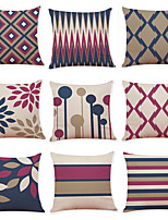 cheap -1 Set of 9 pcs Modern Geometry Series  Decorative Linen Throw Pillow Cover 18 x 18 inches 45 x 45 cm