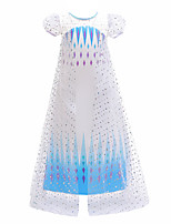 cheap -Princess Fairytale Dress Girls' Movie Cosplay Cosplay Princess Purple / Blue Dress Children's Day Polyester / Cotton