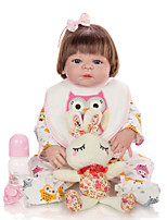 cheap -KEIUMI 22 inch Reborn Doll Baby & Toddler Toy Reborn Toddler Doll Baby Girl Gift Cute Lovely Parent-Child Interaction Tipped and Sealed Nails Full Body Silicone 23D93-C57-H40-T23 with Clothes and