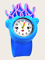cheap -Kids Quartz Watches Quartz New Arrival Chronograph Silicone Blue Analog - Blue