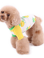 cheap -Dog Pajamas Vest Fruit Casual / Sporty Cute Sports Casual / Daily Dog Clothes Warm White Costume Cotton XXXS XXS XS S M L