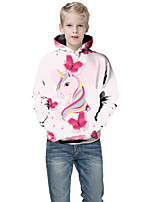 cheap -Kids Toddler Boys' Active Basic Fantastic Beasts Unicorn Geometric Color Block Animal Print Long Sleeve Hoodie & Sweatshirt Blushing Pink