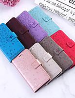 cheap -Case For  LG G6 STYL04 STYL05 LG G7 K10 2018 LG K40 V30 LG K50 Q60 K8 2018 Card Holder Flip Pattern Full Body Cases cat sakura flower animal PU Leather TPU