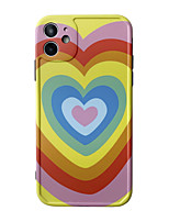 cheap -Case For Apple scene graph iPhone 11 11 Pro 11 Pro MaxPhoto frame private model series rainbow love pattern TPU material IMD process fine matte mobile phone case