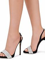 cheap -Women's Sandals Summer Stiletto Heel Open Toe Daily PU Black