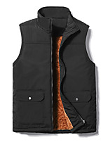 cheap -Men's Hiking Gilet Winter Outdoor Thermal / Warm Windproof Breathable Soft Top Fleece Camping / Hiking Hunting Fishing Black / Grey / Dark Blue