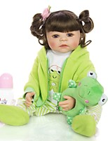cheap -KEIUMI 22 inch Reborn Doll Baby & Toddler Toy Reborn Toddler Doll Baby Girl Gift Cute Washable Lovely Parent-Child Interaction Full Body Silicone 22D01-C212-H45-T25 with Clothes and Accessories for