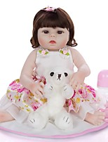 cheap -KEIUMI 22 inch Reborn Doll Baby & Toddler Toy Reborn Toddler Doll Baby Girl Gift Cute Washable Lovely Parent-Child Interaction Full Body Silicone 19D09-C387-T22 with Clothes and Accessories for