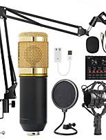 cheap -BM 800 Studio Microphone Kits With Filter V8 Sound Card Condenser Microphone Bundle Record Ktv Karaoke Smartphone Microphone