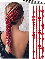 cheap -Women's Hair Jewelry For Gift Holiday Street Birthday Party Fashion Classic Imitation Pearl Red 5pcs