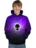 cheap -Kids Toddler Boys' Active Basic Geometric Color Block Print Long Sleeve Hoodie & Sweatshirt Purple