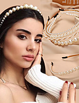 cheap -Women's Hair Jewelry For Wedding Anniversary Party Evening Gift Wedding Birthday Seed Pearls Pearl Imitation Pearl Alloy rice white White  / Silver White 1pc