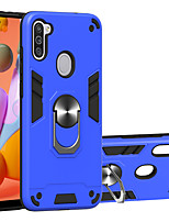 cheap -Case For Samsung Galaxy S10 Lite S20 S20Plus S20Ultra Note 10 lite Galaxy A91 M80S A81 M60S M31 A21S A11 M11 A21 A31 A41 A51 A71 A70E Shockproof Ring Holder Back Cover Solid Colored TPU PC Metal