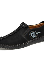 cheap -Men's Summer Daily Loafers & Slip-Ons PU Black / Yellow / Khaki