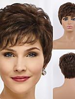 cheap -Remy Human Hair Wig Short Straight Natural Straight Bob Pixie Cut Layered Haircut Asymmetrical Black Brown Women Fashion Natural Hairline Capless Women's All Natural Black #1B Medium Auburn#30 Medium