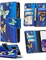 cheap -Case For Samsung Galaxy S20 Ultra S10E S9 Plus Wallet Card Holder with Stand Full Body Cases Butterfly PU Leather For Galaxy A10E A20E A10 A20 A30 A40 A50 A70