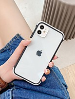 cheap -Case For Apple iPhone 7 8 7plus 8plus X XR XS XSMax SE(2020) iPhone 11 11Pro 11ProMax Shockproof Transparent Back Cover Transparent Solid Colored PC