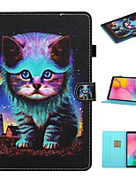 cheap -Case For Samsung Galaxy  Tab A 10.1(2019)T510 Tab A 8.0(2019)T290 295  Tab S6 Lite (SM-P610 615) Card Holder with Stand Flip Full Body Cases Cat PU Leather