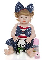 cheap -KEIUMI 22 inch Reborn Doll Baby & Toddler Toy Reborn Toddler Doll Baby Girl Gift Cute Washable Lovely Parent-Child Interaction Full Body Silicone KUM23FS01-WGW77 with Clothes and Accessories for