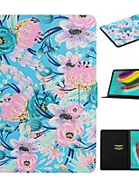 cheap -Case For Samsung Galaxy Tab A 10.1(2019)T510 Tab A 8.0(2019)T290 295 Tab S6 T860/865 Card Holder with Stand Flip Full Body Cases Flower PU Leather Tab S6 lite P610 P615 T580 T585 Tab S5E T720 T725