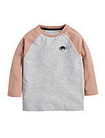 cheap -Kids Boys' Basic Color Block Long Sleeve Tee Rainbow