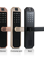 cheap -LITBest Aluminium alloy Fingerprint Lock / Intelligent Lock Smart Home Security System Fingerprint unlocking / Password unlocking Household / Home / Apartment Security Door / Copper Door / Wooden Door