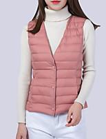 cheap -Women's Vest Solid Colored Polyester Wine / White / Black M / L / XL