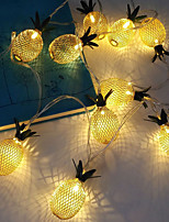 cheap -3M 20LEDs Pineapple LED String Lights Creative Three Section 5th Battery-Powered Fairy Light Christmas Wedding Garden Party Family Party Room Decoration Pendant Without Battery