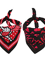 cheap -Dog Cat Bandanas & Hats Dog Bandana Dog Bibs Scarf Cartoon Party Cute Christmas Wedding Dog Clothes Adjustable Costume Cotton M
