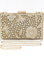 cheap -Women's Bags Alloy Evening Bag Crystals for Event / Party Gold / Wedding Bags