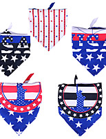 cheap -Dog Cat Bandanas & Hats Dog Bandana Dog Bibs Scarf National Flag Party Fashion Party Sports Dog Clothes Adjustable Costume Polyster L