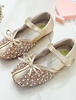 cheap -Girls' Flats Ballerina PU Little Kids(4-7ys) / Big Kids(7years +) Pearl Pink / Gold / Silver Summer