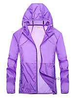 cheap -Women's Girls' Hiking Jacket Hiking Windbreaker Outdoor Windproof Quick Dry Ultraviolet Resistant Detachable Cap Top White / Dark Purple / Pink / Light Grey / Rose Red