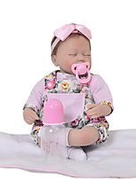 cheap -KEIUMI 16 inch Reborn Doll Baby & Toddler Toy Reborn Toddler Doll Baby Girl Gift Cute Lovely Parent-Child Interaction Tipped and Sealed Nails 3/4 Silicone Limbs and Cotton Filled Body 17D23-C377-T01