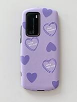 cheap -Case For Huawei Huawei P20 / Huawei P20 Pro / Huawei P30 Shockproof / Pattern Back Cover Heart TPU