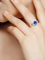 cheap -Women's Ring Cubic Zirconia 1pc White Alloy Round Luxury Vintage Wedding Engagement Jewelry Lovely