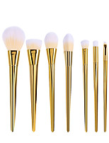 cheap -Professional Makeup Brushes 7pcs Professional Soft Full Coverage Artificial Fibre Brush Plastic for Blush Brush Foundation Brush Makeup Brush Eyebrow Brush Eyeshadow Brush