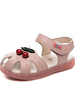 cheap -Girls' Comfort PU Sandals Little Kids(4-7ys) White / Pink Summer