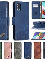 cheap -Case For Samsung Galaxy S20 Ultra A20E S10E A10E A10 A20 A30 A40 A50 A70 S9 Wallet Card Holder with Stand Full Body Cases Solid Colored PU Leather