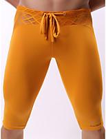 cheap -Men's Mesh Boxers Underwear - Normal Low Waist White Black Blue S M L
