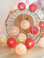 cheap -3M 20LED Cotton Ball Lamp Garland LED String Lights Battery Powered Christmas Fairy Lights Wedding Party Bedroom Outdoor Holiday Party Decoration Without Battery