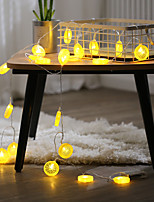 cheap -2M 10LED Fairy Lights LED Orange Lemon String Lights Battery Powered Christmas Garland Display Window New Year Wedding Family Party Decoration Without Battery
