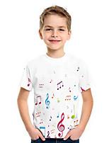 cheap -Kids Boys' Basic Geometric Print Short Sleeve Tee White